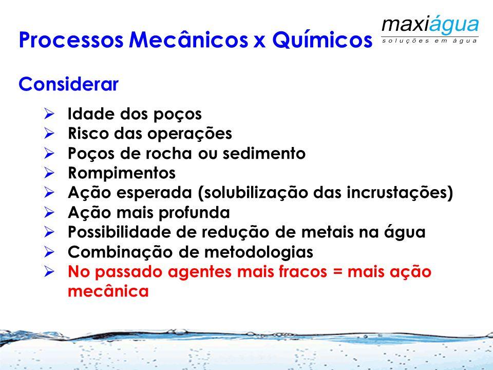 Processos Mecânicos x Químicos