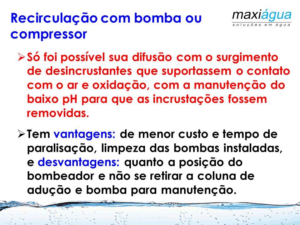 Recirculação com bomba ou compressor