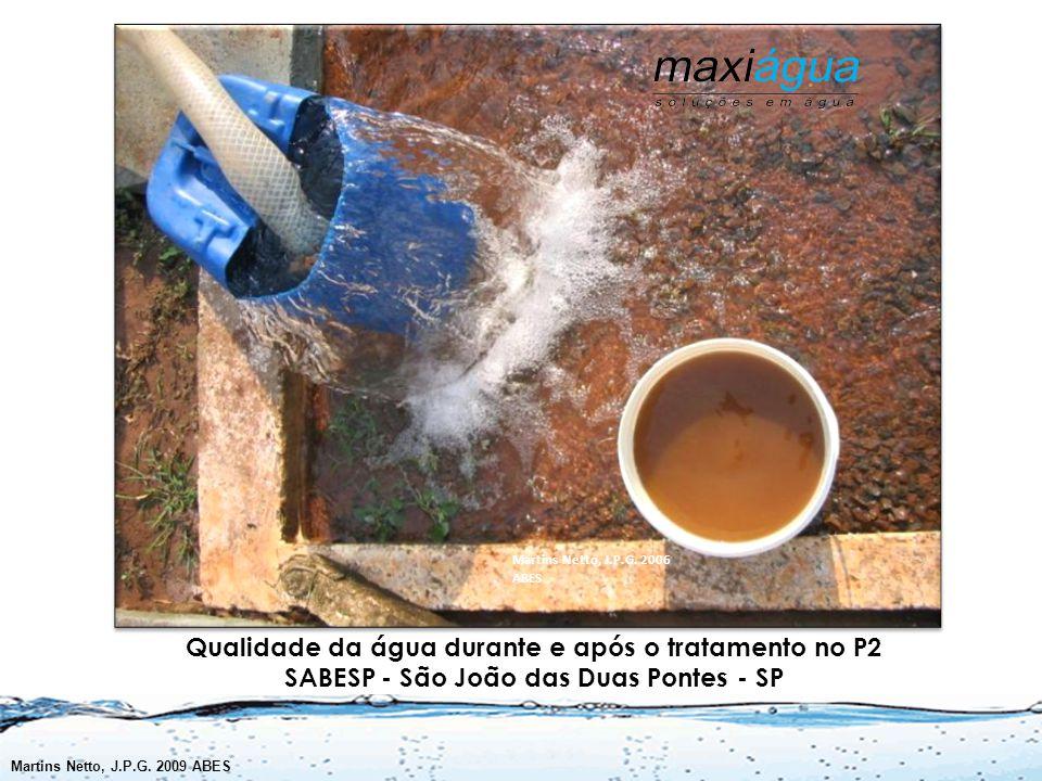 Martins Netto, J.P.G. 2006 ABES Qualidade da água durante e após o tratamento no P2 SABESP - São João das Duas Pontes - SP.