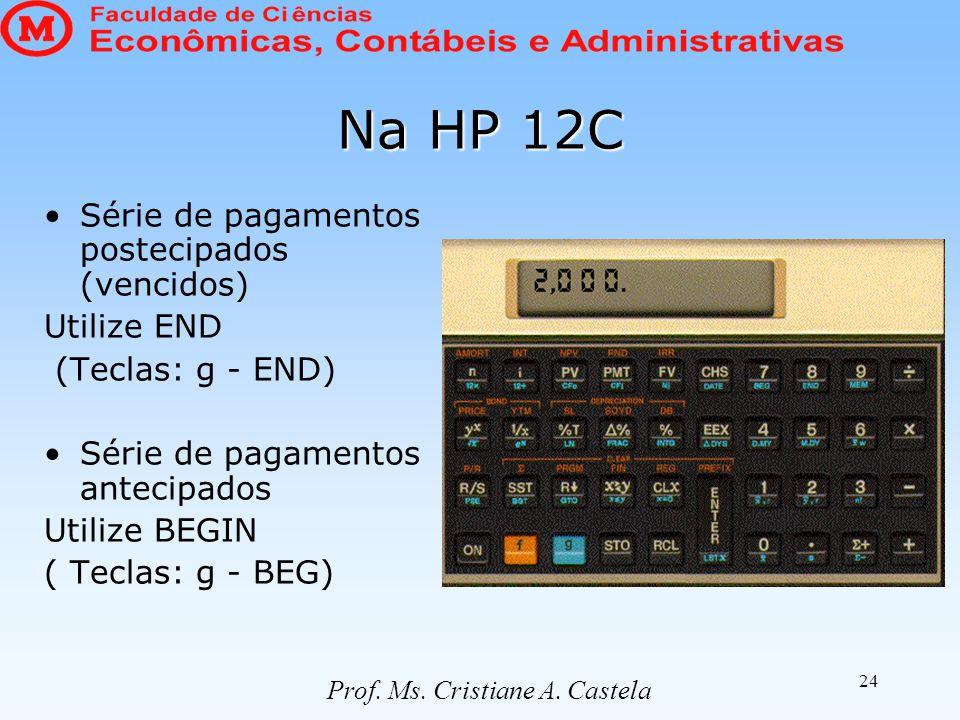 Prof. Ms. Cristiane A. Castela