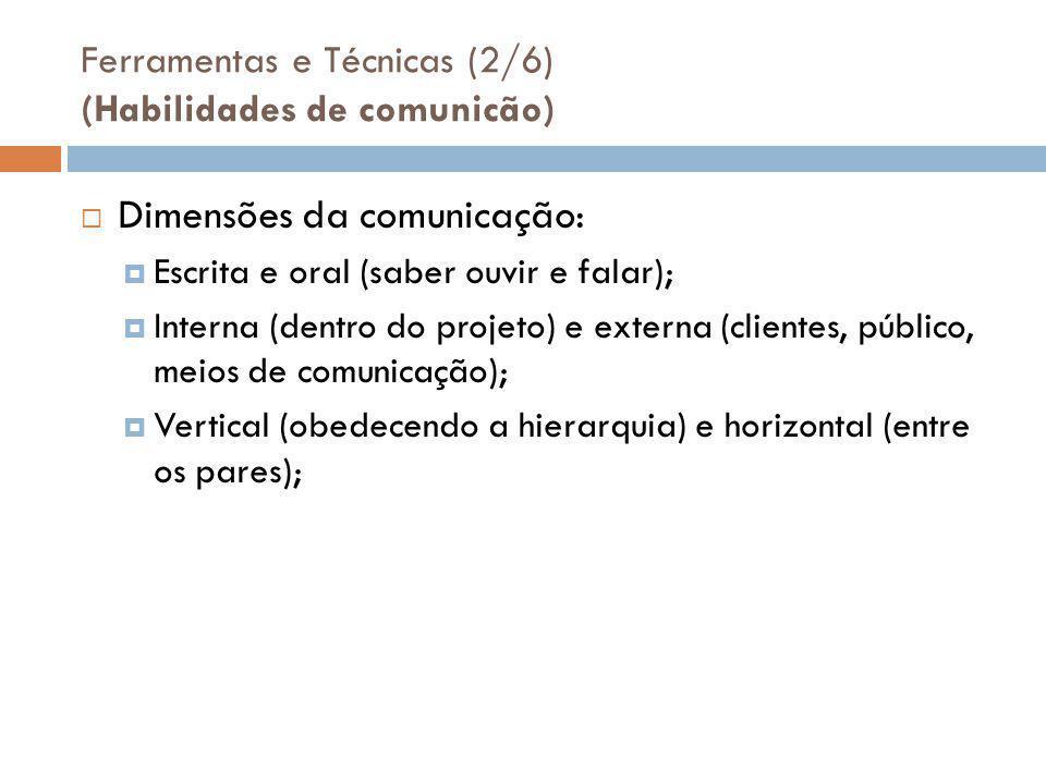 Ferramentas e Técnicas (2/6) (Habilidades de comunicão)