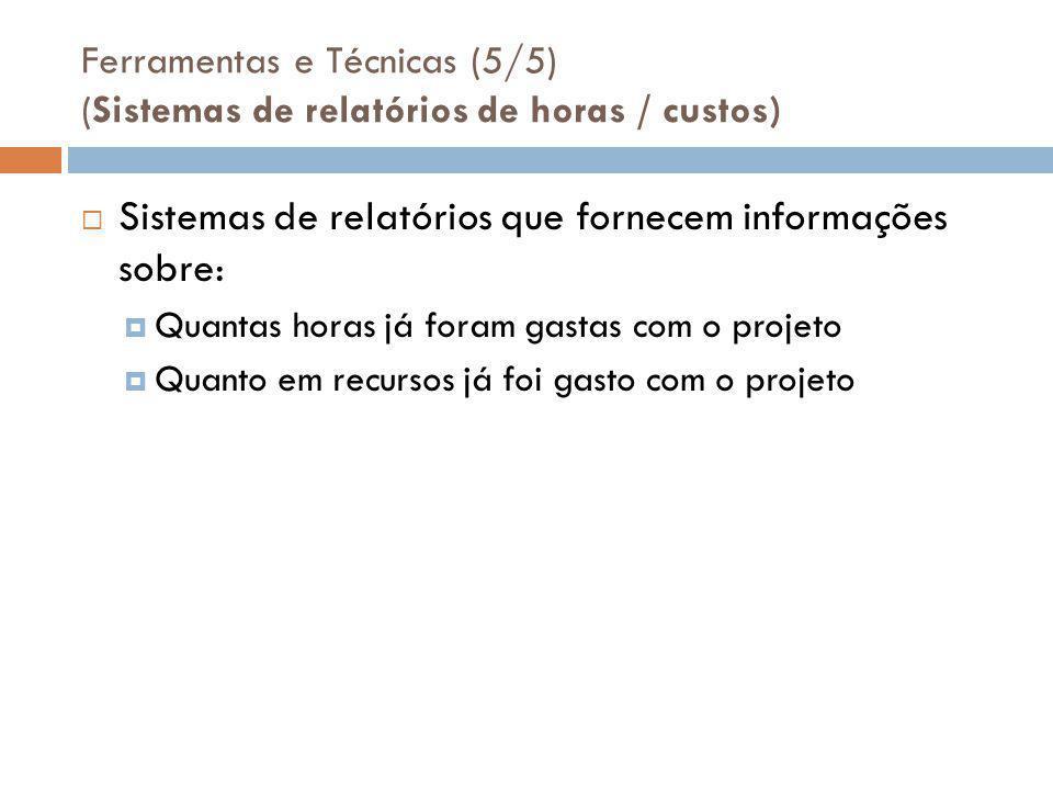 Sistemas de relatórios que fornecem informações sobre: