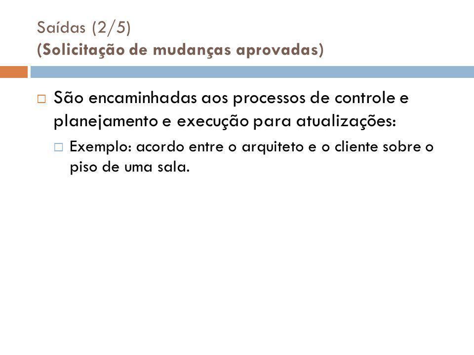 Saídas (2/5) (Solicitação de mudanças aprovadas)