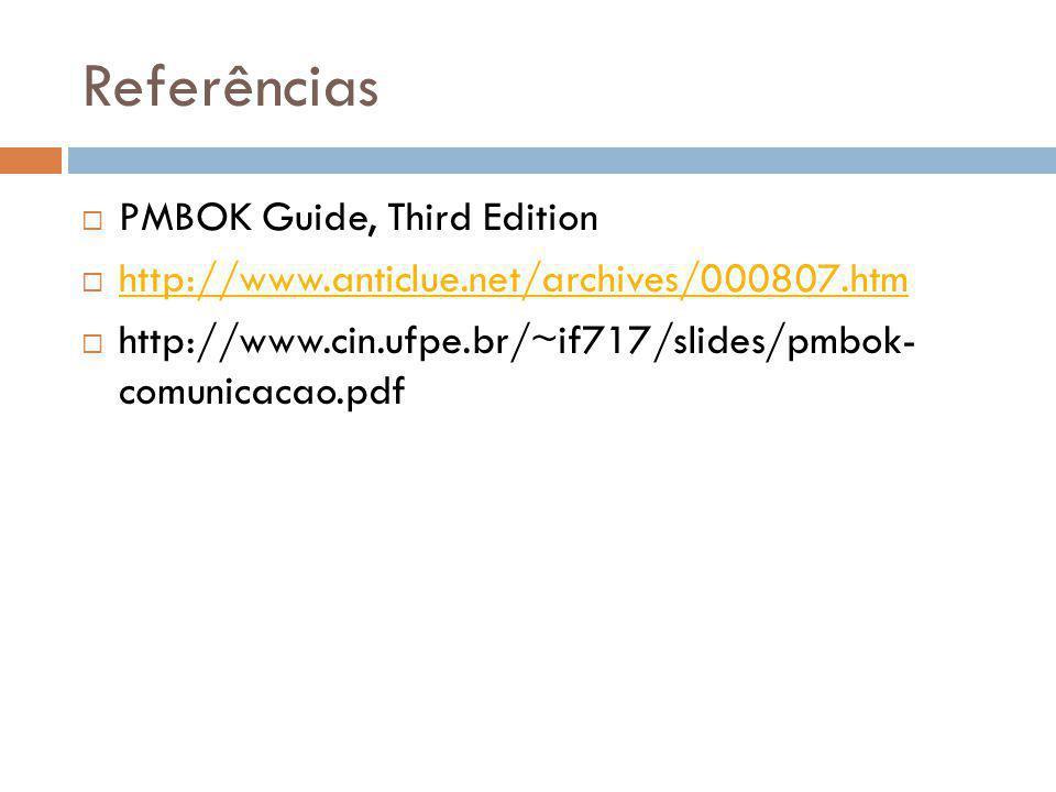 Referências PMBOK Guide, Third Edition