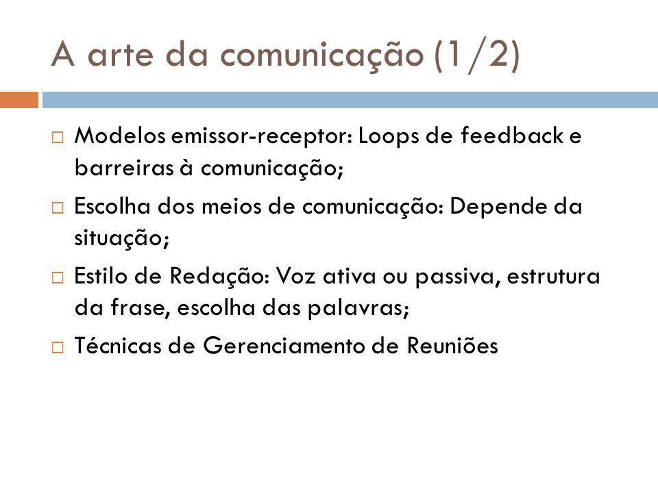 A arte da comunicação (1/2)