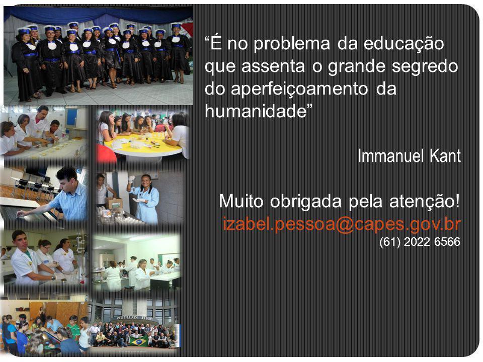 Muito obrigada pela atenção! izabel.pessoa@capes.gov.br