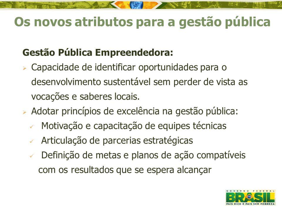 Os novos atributos para a gestão pública