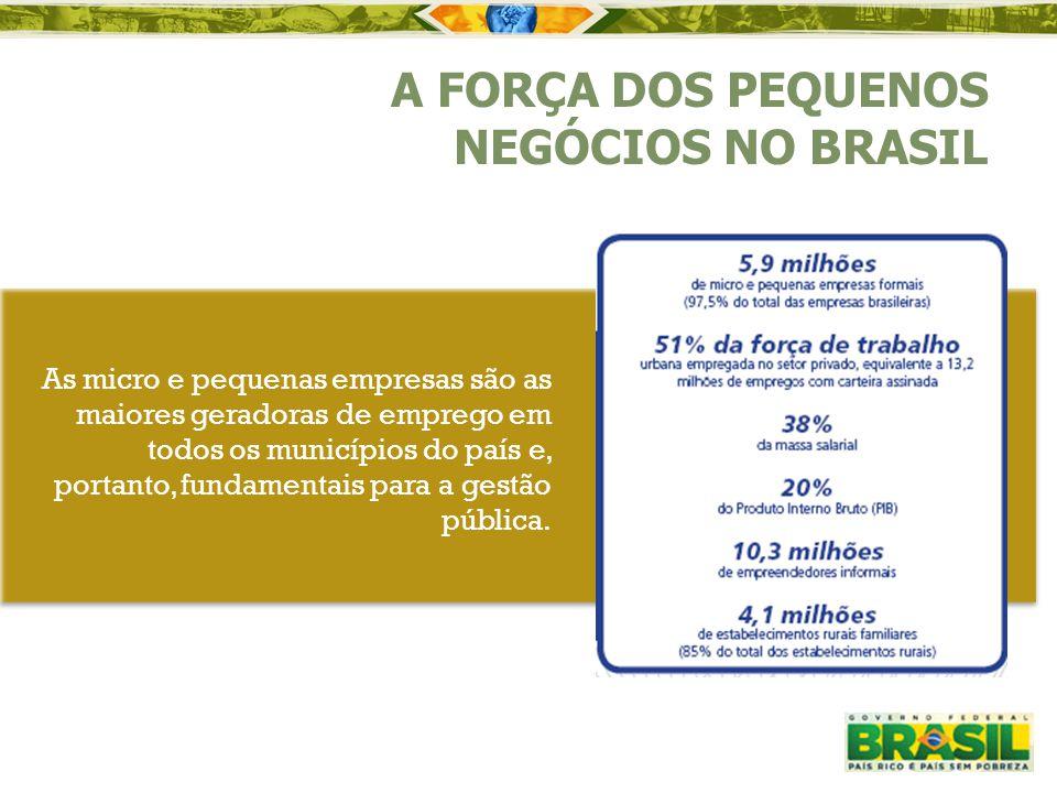 A FORÇA DOS PEQUENOS NEGÓCIOS NO BRASIL