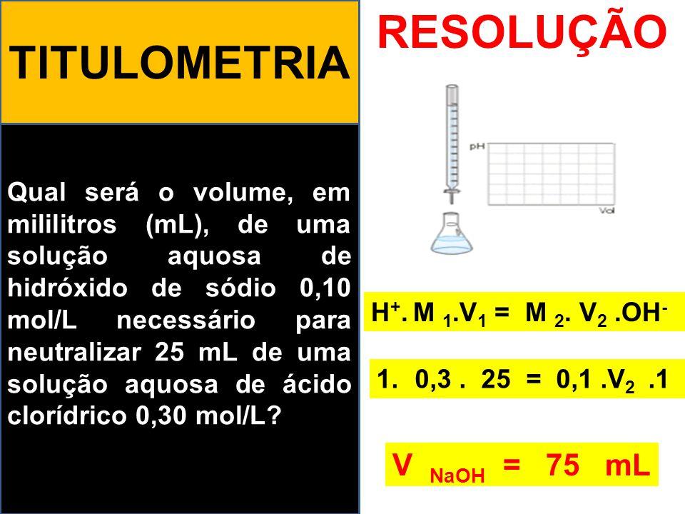 RESOLUÇÃO TITULOMETRIA V NaOH = 75 mL