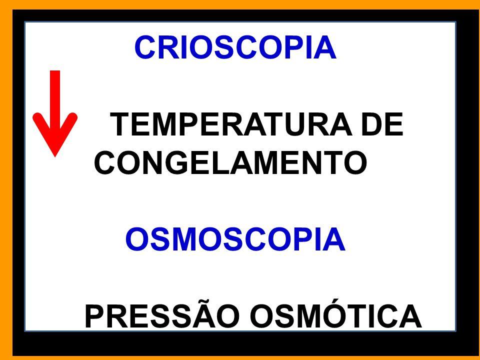 TEMPERATURA DE CONGELAMENTO