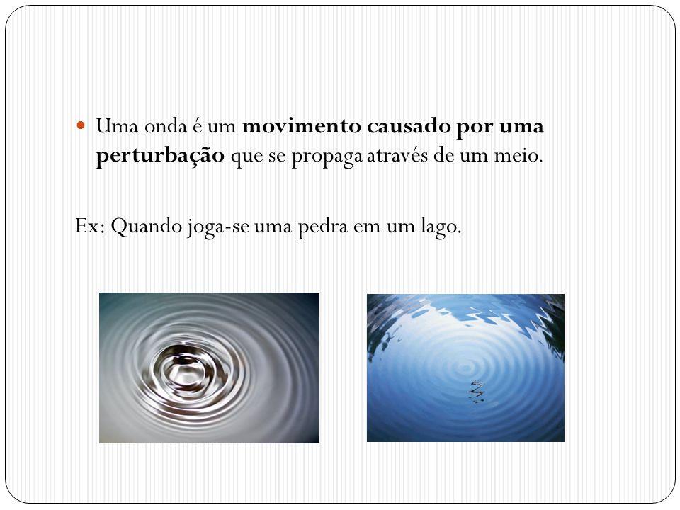 Uma onda é um movimento causado por uma perturbação que se propaga através de um meio.