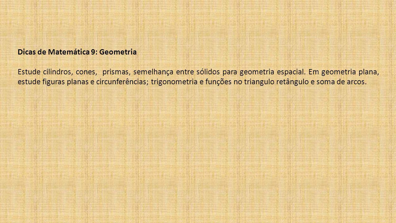 Dicas de Matemática 9: Geometria