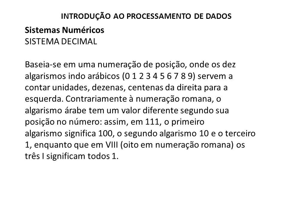 Sistemas Numéricos SISTEMA DECIMAL