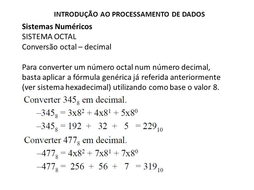 Conversão octal – decimal
