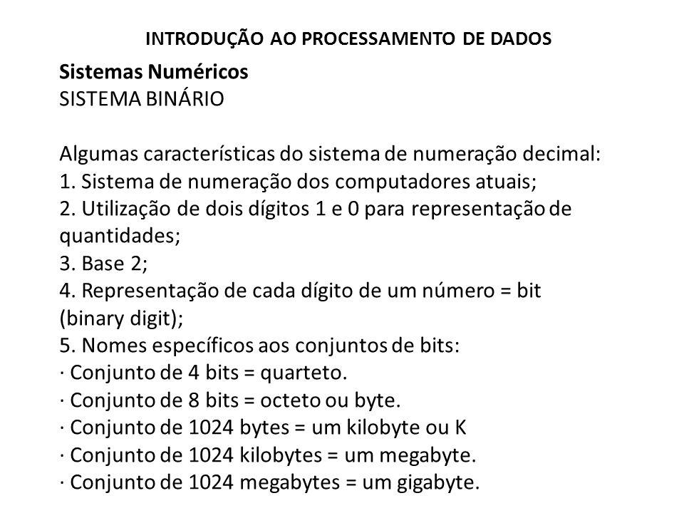 Algumas características do sistema de numeração decimal:
