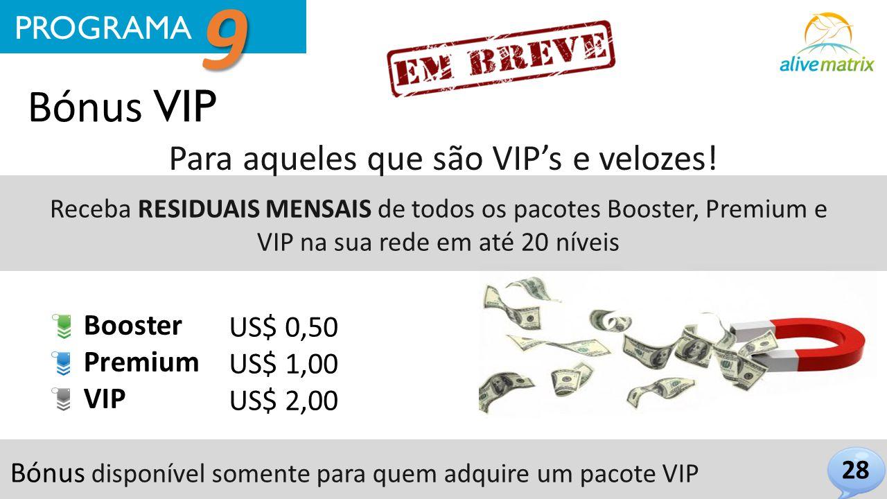 Para aqueles que são VIP's e velozes!