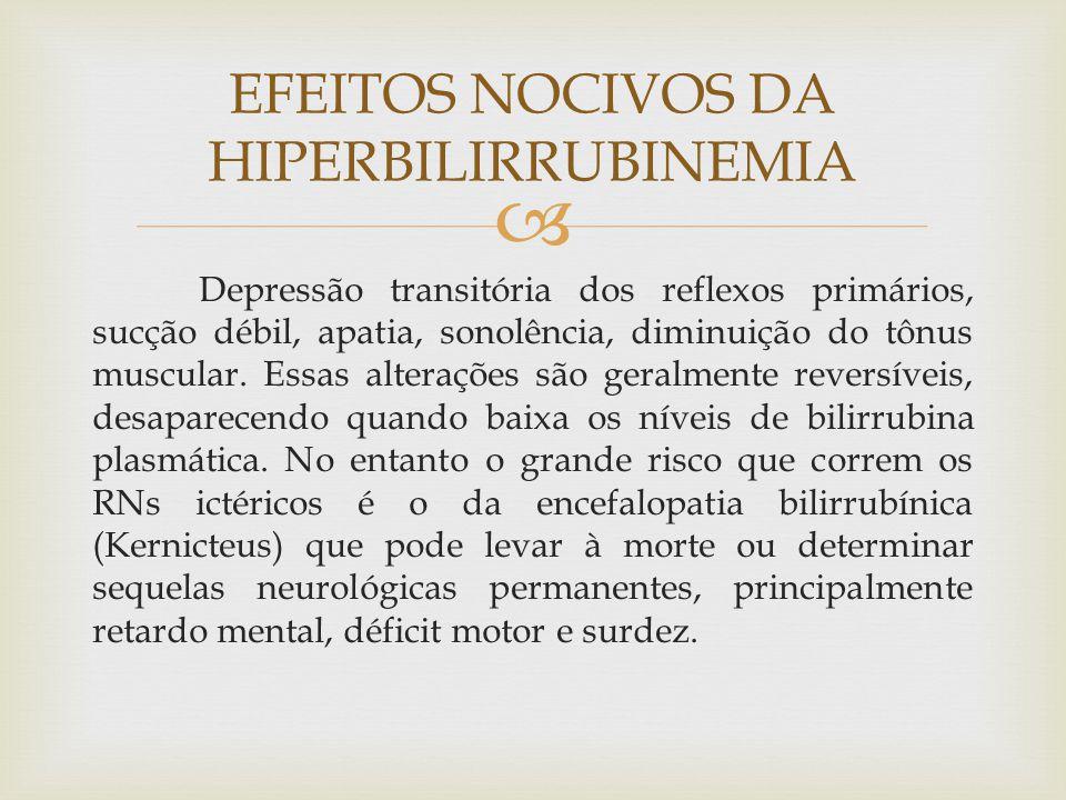 EFEITOS NOCIVOS DA HIPERBILIRRUBINEMIA