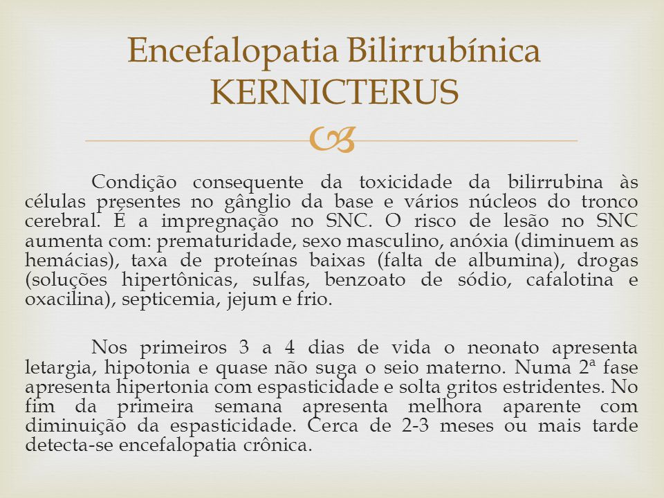 Encefalopatia Bilirrubínica KERNICTERUS