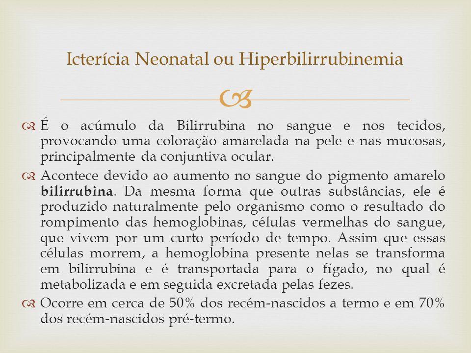 Icterícia Neonatal ou Hiperbilirrubinemia