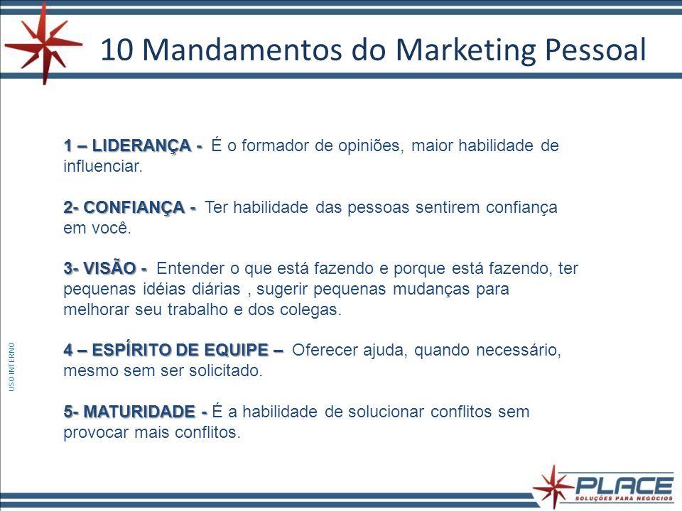 10 Mandamentos do Marketing Pessoal