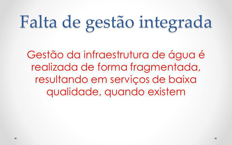 Falta de gestão integrada