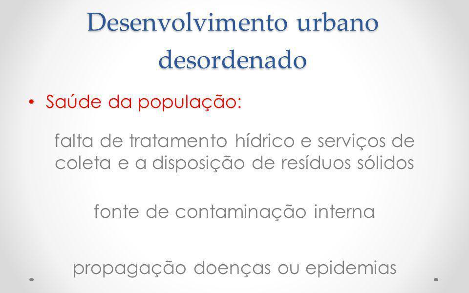 Desenvolvimento urbano desordenado