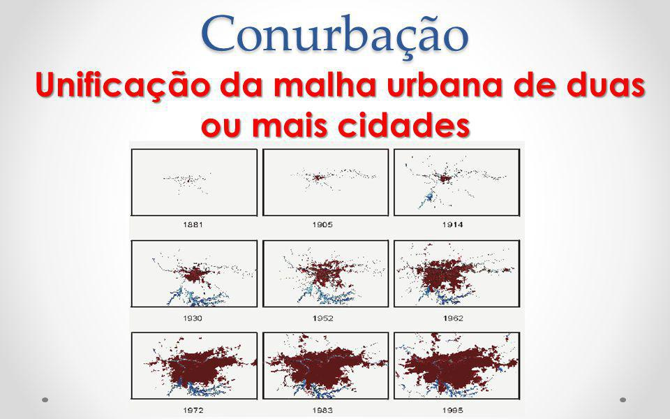 Unificação da malha urbana de duas ou mais cidades