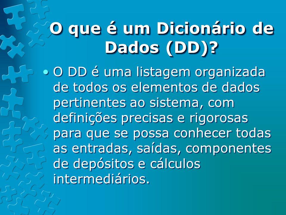 O que é um Dicionário de Dados (DD)
