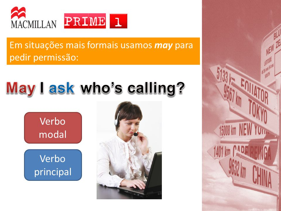 May I ask who's calling Verbo modal Verbo principal