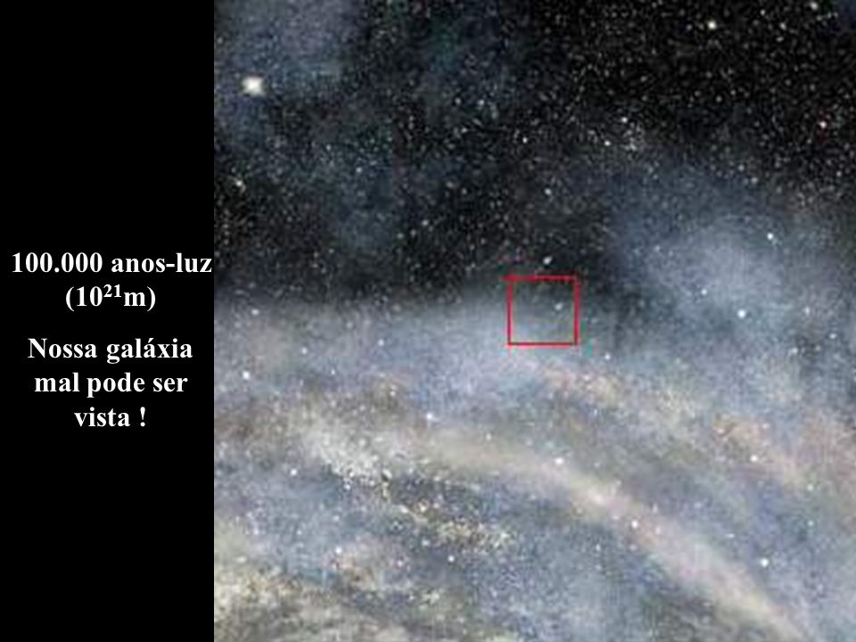 Nossa galáxia mal pode ser vista !