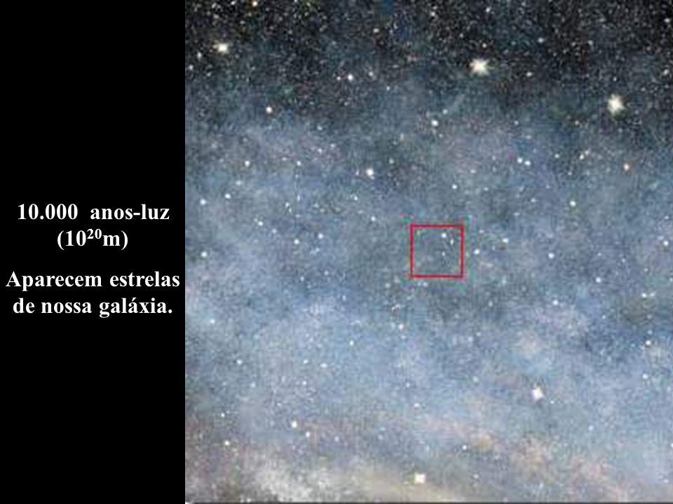 Aparecem estrelas de nossa galáxia.