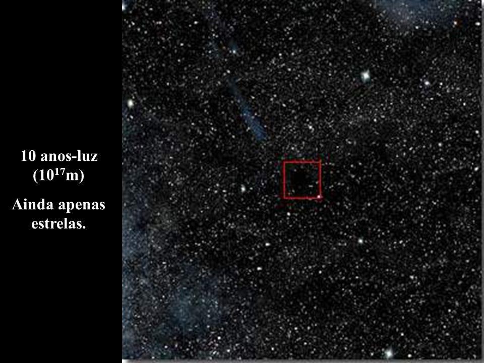 10 anos-luz (1017m) Ainda apenas estrelas.