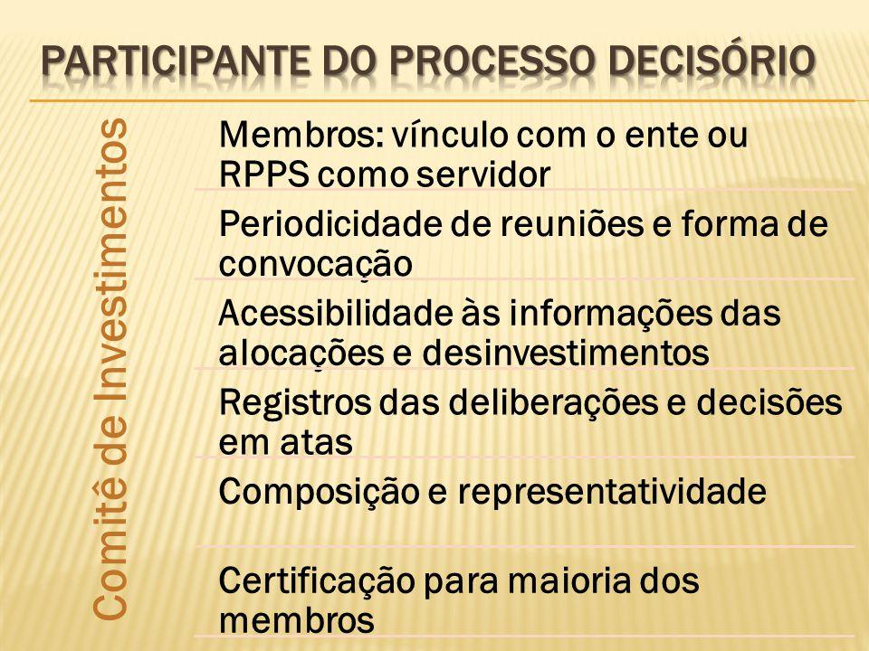 Participante do processo decisório