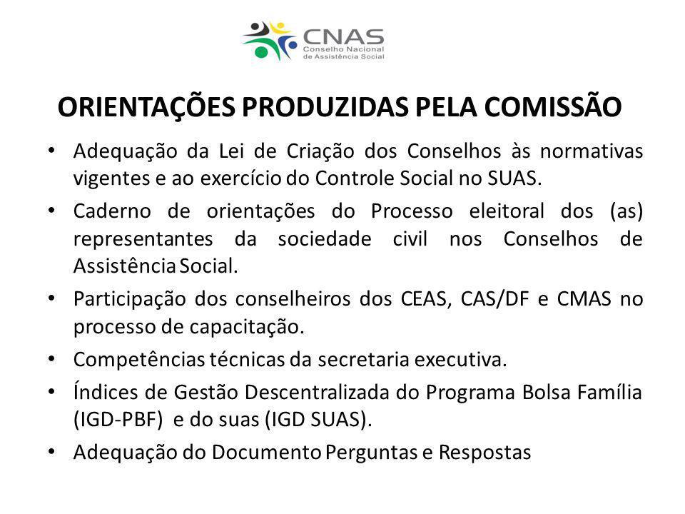 ORIENTAÇÕES PRODUZIDAS PELA COMISSÃO