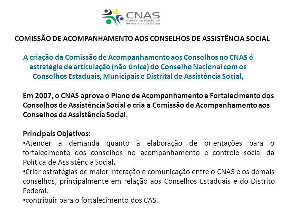 COMISSÃO DE ACOMPANHAMENTO AOS CONSELHOS DE ASSISTÊNCIA SOCIAL