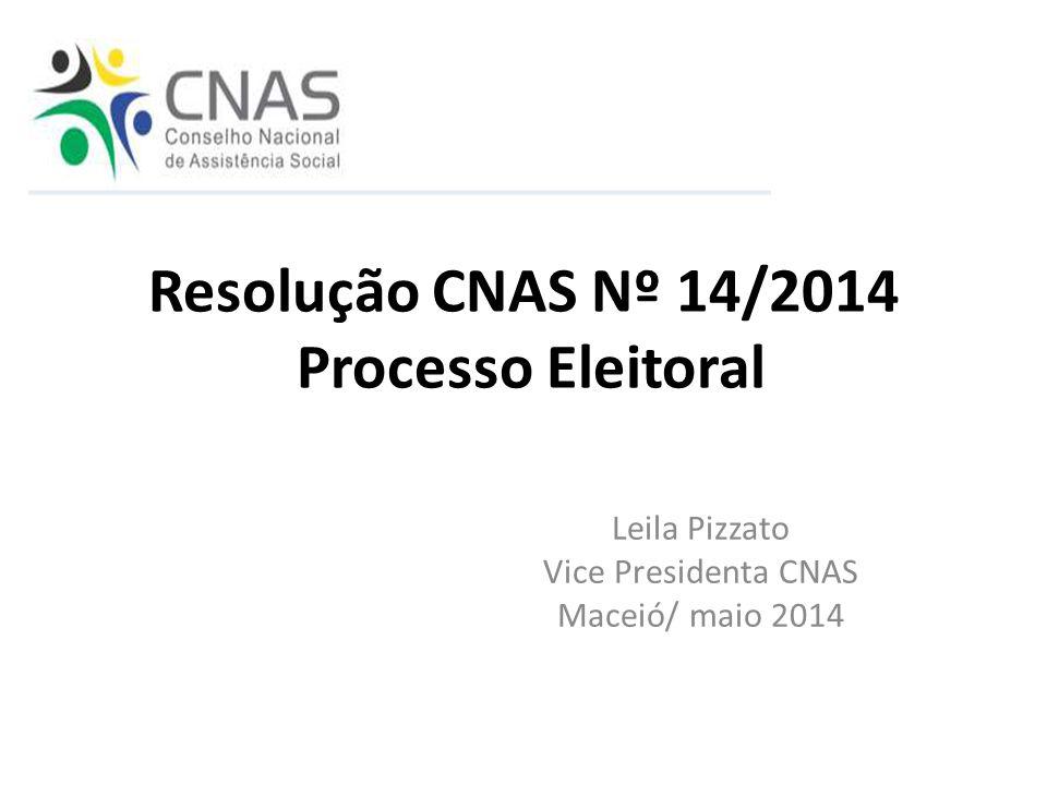 Resolução CNAS Nº 14/2014 Processo Eleitoral