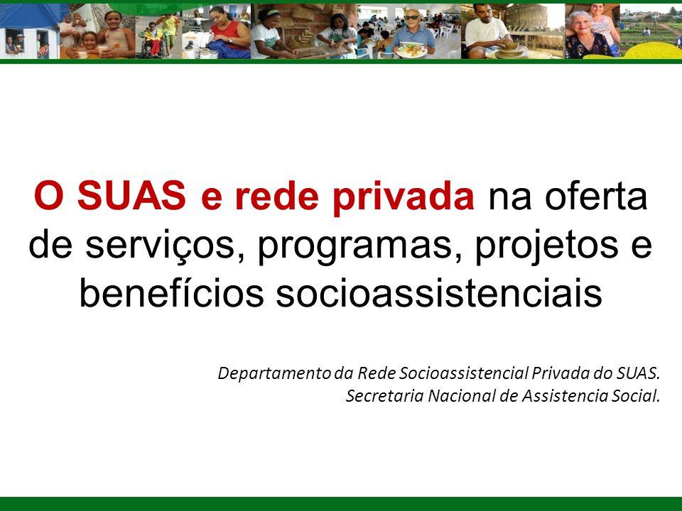 O SUAS e rede privada na oferta de serviços, programas, projetos e benefícios socioassistenciais