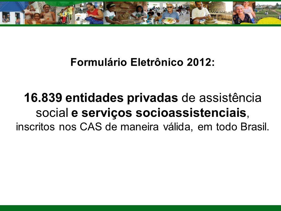Formulário Eletrônico 2012: