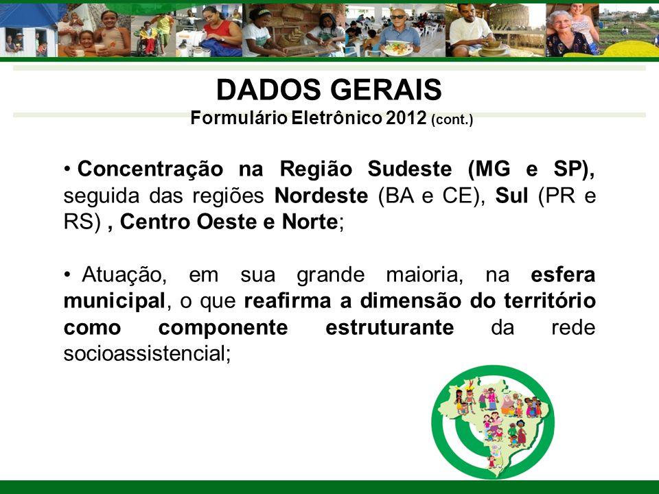 Formulário Eletrônico 2012 (cont.)