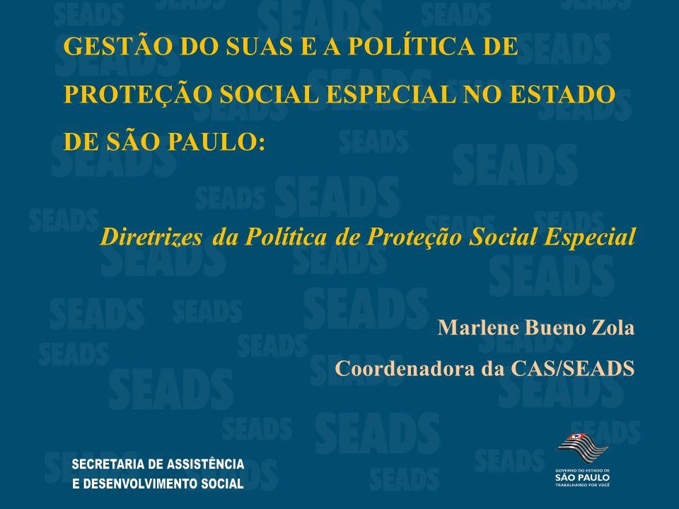 Diretrizes da Política de Proteção Social Especial