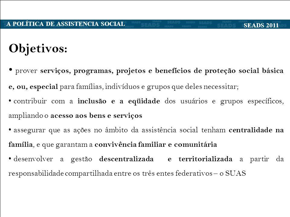 A POLÍTICA DE ASSISTENCIA SOCIAL