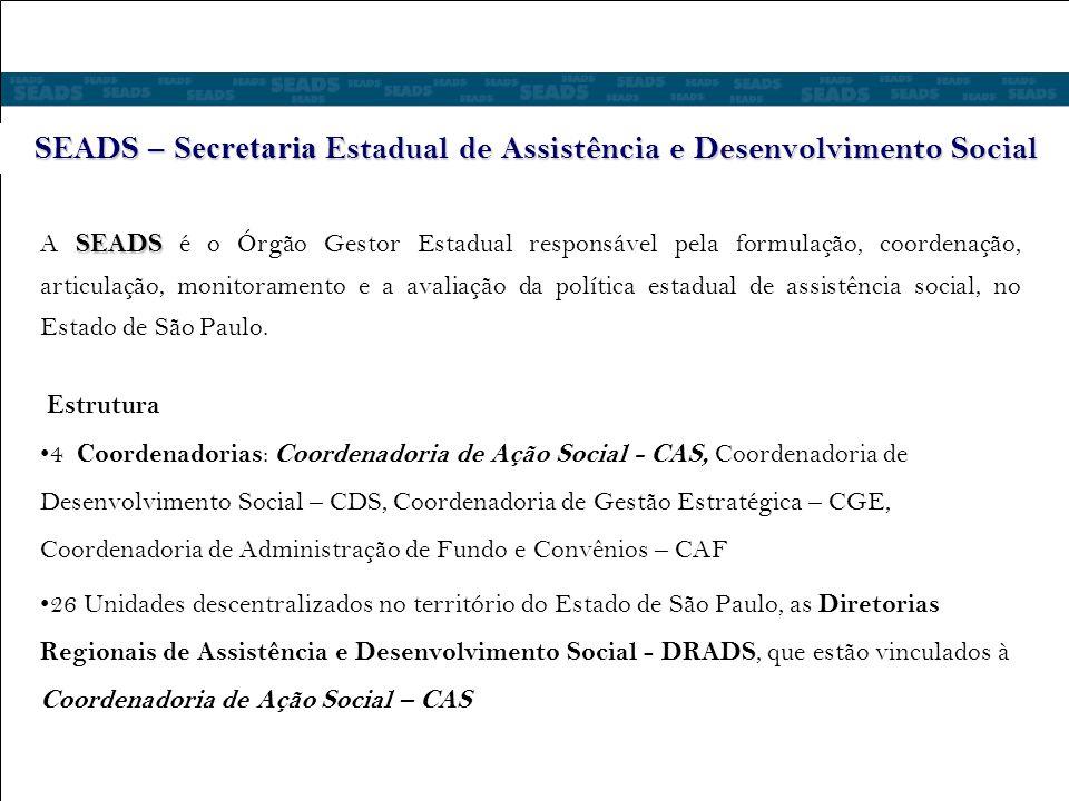 SEADS – Secretaria Estadual de Assistência e Desenvolvimento Social