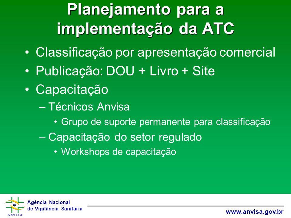 Planejamento para a implementação da ATC