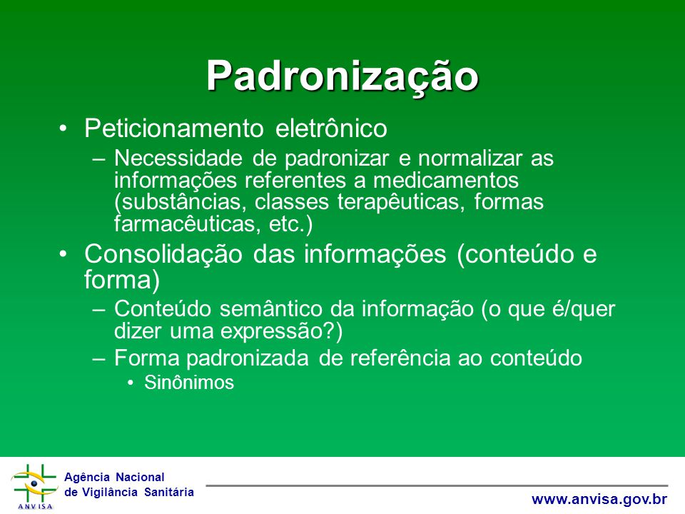 Padronização Peticionamento eletrônico
