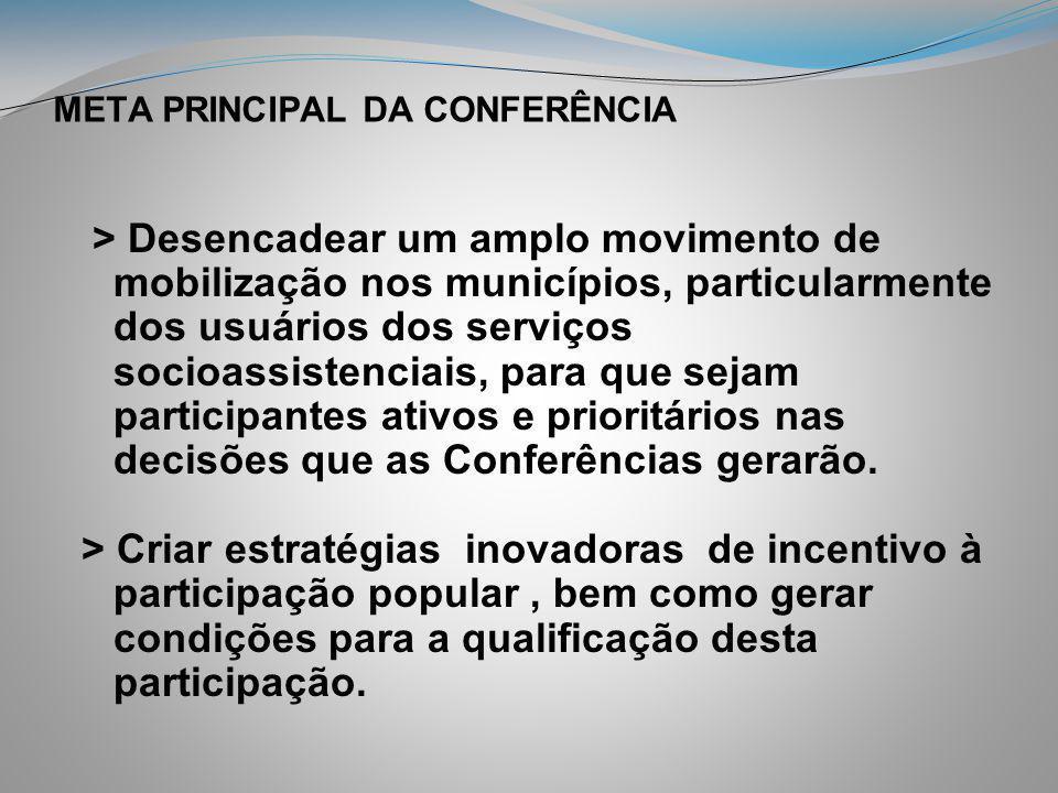 META PRINCIPAL DA CONFERÊNCIA
