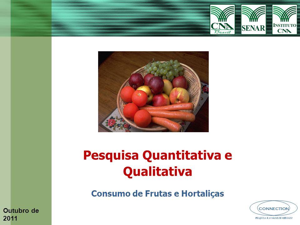 Pesquisa Quantitativa e Qualitativa Consumo de Frutas e Hortaliças