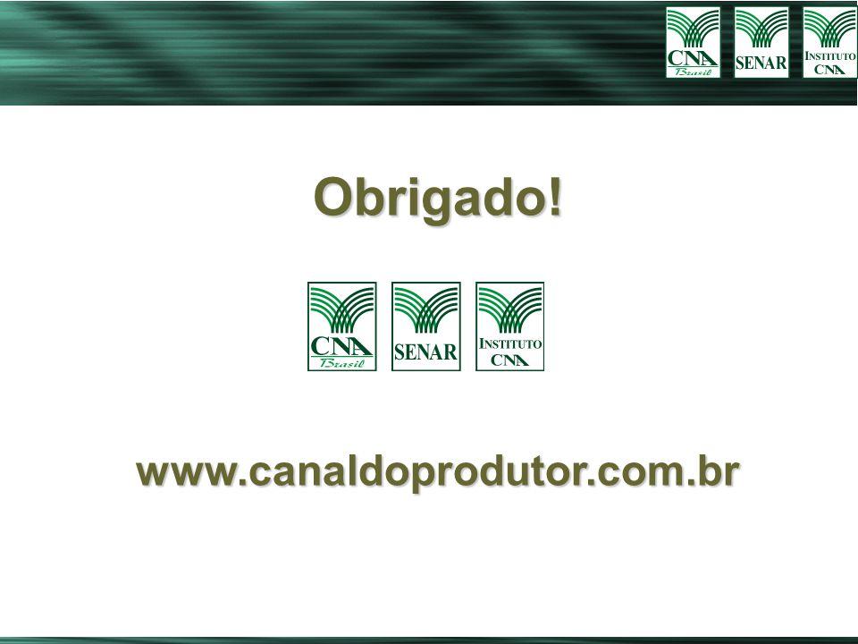 Obrigado! www.canaldoprodutor.com.br 44