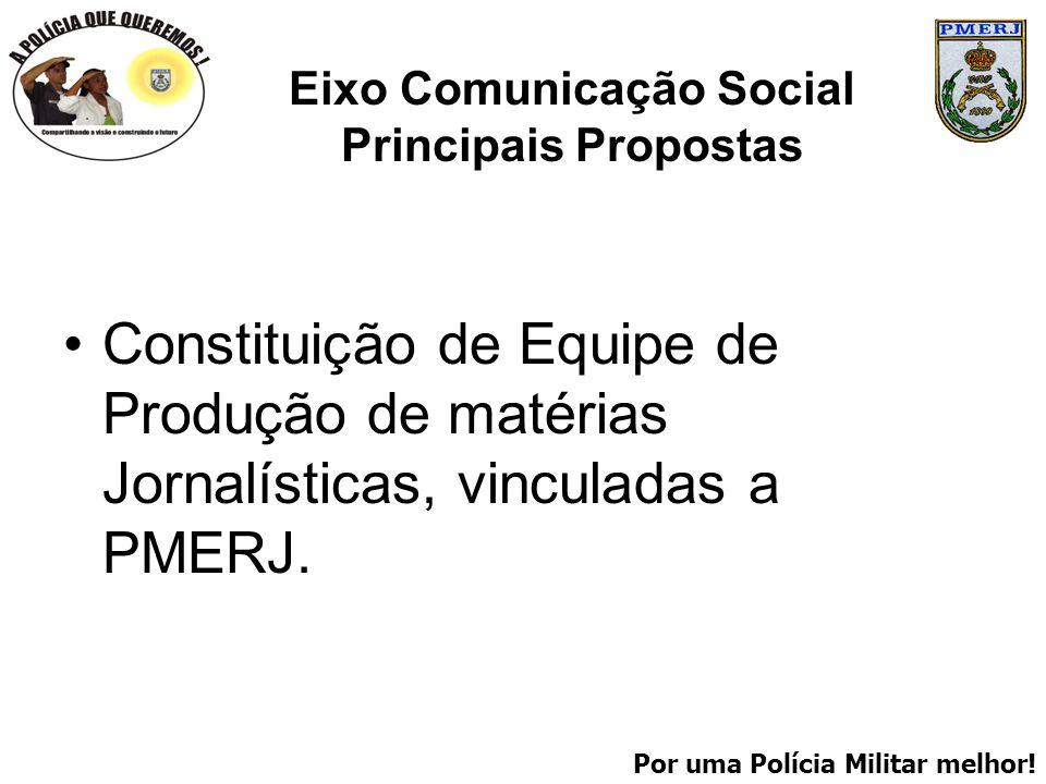 Eixo Comunicação Social Principais Propostas