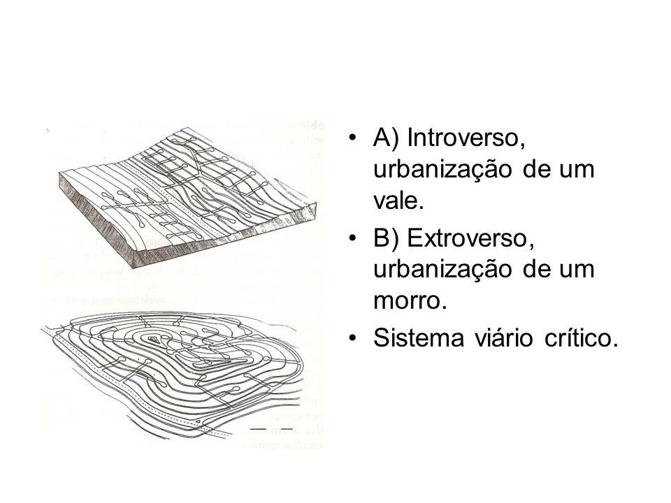 A) Introverso, urbanização de um vale.