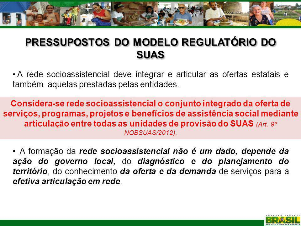 PRESSUPOSTOS DO MODELO REGULATÓRIO DO